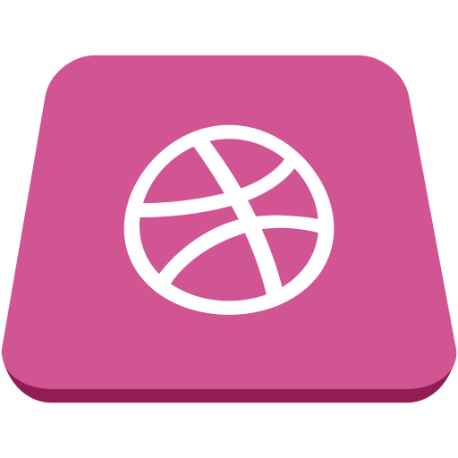 dribble, social network, square icon