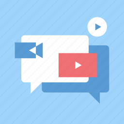 advertising, marketing, media, play, promotion, seo, video icon