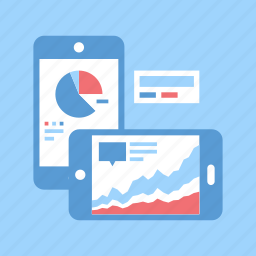 analytics, chart, dashboard, graph, mobile, phone, statistics icon