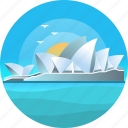 australia, country, sydney opera house, travel, trip icon