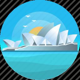 australia, country, sydney opera house, travel, trip icon