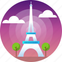 country, eiffel tower, french, paris, travel icon