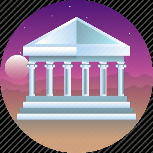 athenian acropolis, country, greece, parthenon, travel icon