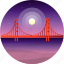 country, golden gate, travel, usa icon