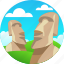 chile, country, moai, travel icon