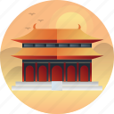 beijing, china, country, forbidden city, travel icon