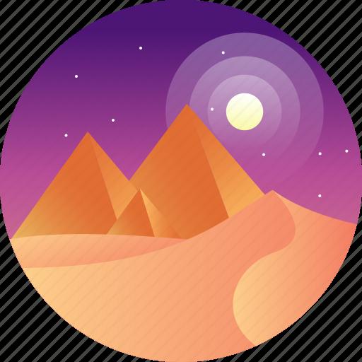 country, desert, egypt, egyptian pyramid, travel icon