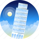 country, italia, pisa, travel, trip icon