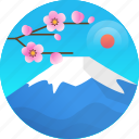 country, fuji, fuji mountain, japan, travel icon