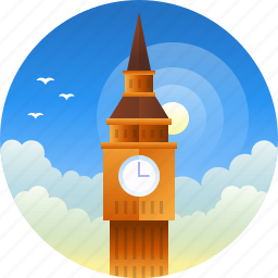 big ben, country, england, london, travel icon