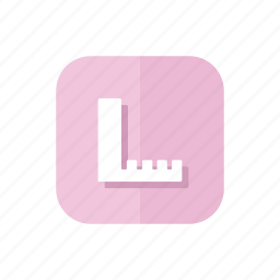 design, ruler, statisticks, study icon