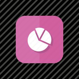 chart, diagramm, pie, presentation, statisticks icon