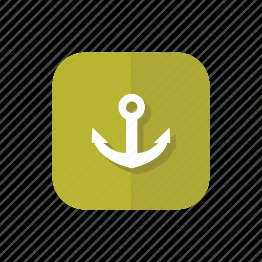 anchor, marine, nautical, navy, sea, ship icon
