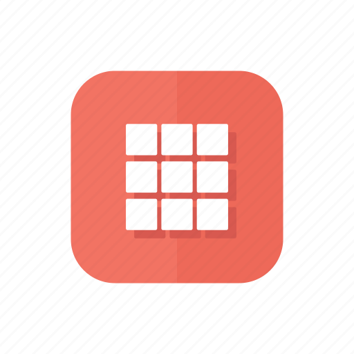 gallery, grid, group, thumbnails, thumbs icon