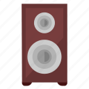 acoustic, device, loudspeaker, music, sound icon
