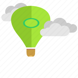 air, balloon, clouds, fly, sky icon