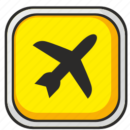 airbus, airport, attention, poi, sign, yellow icon