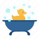 bathroom, duck, rest, swim, washing icon