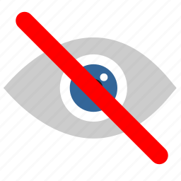 cancel, eye, rule, see, visible icon