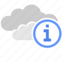 cloud, data, help, info, storage, technology icon