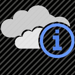 cloud, data, help, info, storage, technology icon