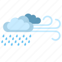 clouds, rain, weather, wind icon