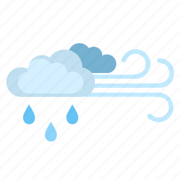 clouds, condition, rain, weather, wind icon
