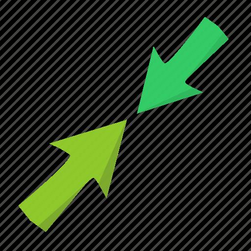 arrows, conflict, incident, vectors, ways icon