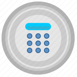 access, digital, keyboard, numbers icon
