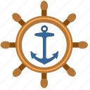 boat, driver, marine, salor, ship, wheel icon