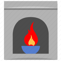 fire, heating, home, place icon