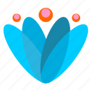 blue, bud, flower, plant icon