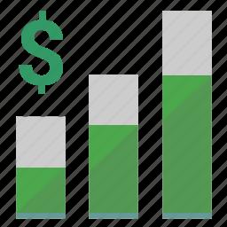 chart, dollar, economic, graph, grow, money, usd icon