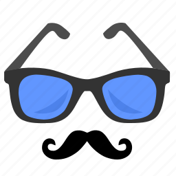 classic, hipster, mustache, sunglasses icon