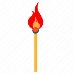 arson, fire, ignition, match icon