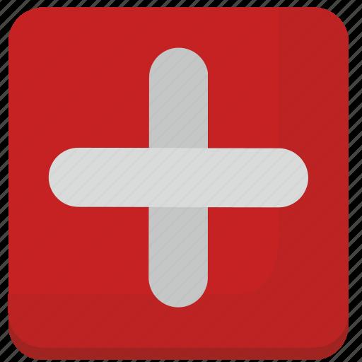 cross, help, med, medicine icon