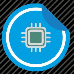 chip, chipset, label, nfc, print, sticker icon