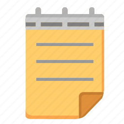 note, notepad, office, paper, study, write icon
