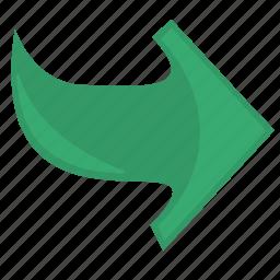 arrow, next, operation, right icon