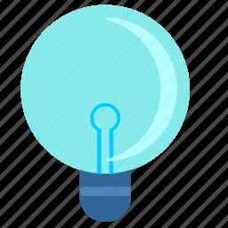 incandescent, lamp, light, round icon