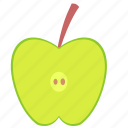 apple, food, fruit, slice icon