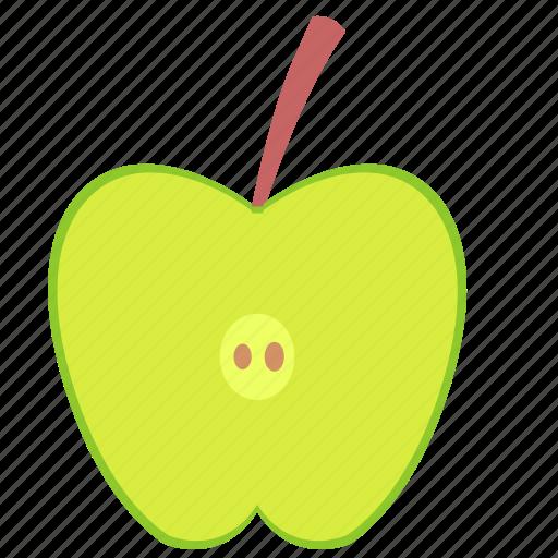 apple, food, fruit, slice icon