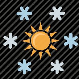 condition, flakes, snow, sun, winter icon