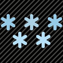 flakes, snow, weather, winter icon