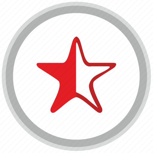 half, label, mark, point, rating, star icon