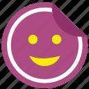 label, lucky, print, smile, sticker icon