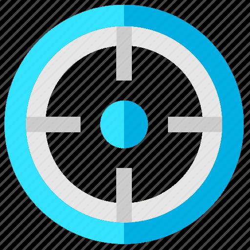 aim, pointer, purpose, target icon