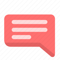 dialog, info, message, text icon