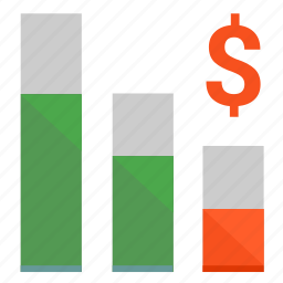 chart, crisis, dollar, economic, minimum, usd icon