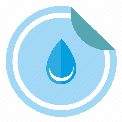 drop, label, print, sticker, water icon